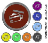 set of color glossy coin like...