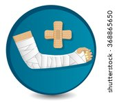 medical symbol in the circle... | Shutterstock .eps vector #368865650