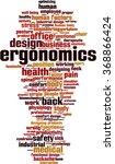 ergonomics word cloud concept.... | Shutterstock .eps vector #368866424