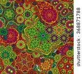 vector floral paisley seamless...   Shutterstock .eps vector #368871788