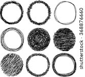 a set of hand scribbled circles. | Shutterstock .eps vector #368876660