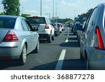 traffic jam during rush hour | Shutterstock . vector #368877278