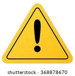 traffic sign  warning attention. | Shutterstock .eps vector #368878670