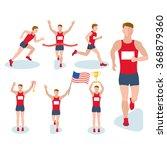 running man on white background | Shutterstock .eps vector #368879360