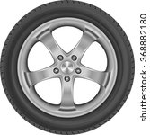 isolated car tire | Shutterstock .eps vector #368882180