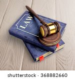 law book and gavel.