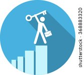 vector growing graph icon | Shutterstock .eps vector #368883320