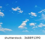 Blue Sky Background With A Few...