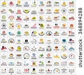 restaurant flat icons set  ... | Shutterstock .eps vector #368894288