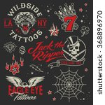 vintage tattoo parlour graphic... | Shutterstock .eps vector #368896970