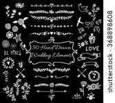 wedding  save the date ... | Shutterstock .eps vector #368898608