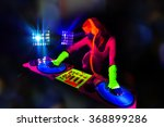 sexy female dj mixes in a club  ... | Shutterstock . vector #368899286