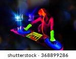 sexy female dj mixes in a club  ... | Shutterstock . vector #368899286