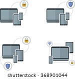 set of flat image with...   Shutterstock .eps vector #368901044