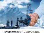 double exposure of businessman... | Shutterstock . vector #368904308
