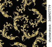 baroque pattern with gold... | Shutterstock .eps vector #368907779