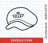 pilot hat doodle | Shutterstock .eps vector #368912570