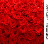 Stock photo big bunch of red roses 368913320
