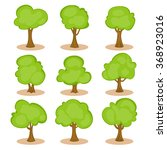 set of trees in hand drawn...   Shutterstock .eps vector #368923016