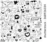 hand drawn love doodles | Shutterstock .eps vector #368926334