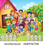 family members standing in the... | Shutterstock .eps vector #368956748