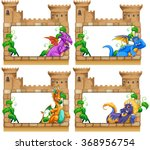 Frame Design With Dragon And...
