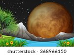nature scene with fullmoon at... | Shutterstock .eps vector #368966150