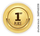 gold 1st place medaille on... | Shutterstock .eps vector #368968358