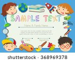 certificate with children in... | Shutterstock .eps vector #368969378