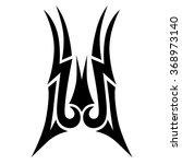 tribal tattoo vector design... | Shutterstock .eps vector #368973140