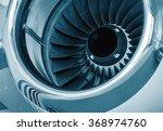 detailed insigh tturbine blades ... | Shutterstock . vector #368974760