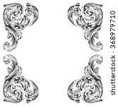 vintage baroque frame scroll... | Shutterstock .eps vector #368979710