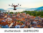 drone with a professional... | Shutterstock . vector #368981090