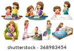 mother and child in different... | Shutterstock .eps vector #368983454