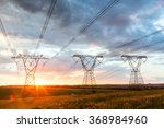 power lines high voltage during ... | Shutterstock . vector #368984960