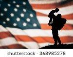 american soldier silhouette | Shutterstock . vector #368985278
