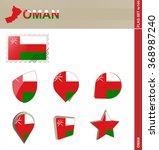 oman flag set  flag set 144.... | Shutterstock . vector #368987240
