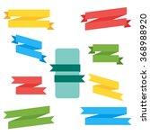 ribbon collection. blank ribbon ... | Shutterstock . vector #368988920