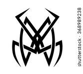 tattoo tribal vector design.... | Shutterstock .eps vector #368989238