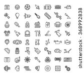 car parts line icons | Shutterstock . vector #368992838