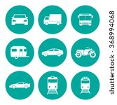 transportation icons. flat... | Shutterstock . vector #368994068