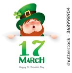 happy saint patrick day ... | Shutterstock .eps vector #368998904