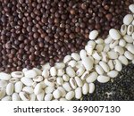 close up group of beans and... | Shutterstock . vector #369007130
