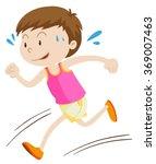 little boy running alone... | Shutterstock .eps vector #369007463