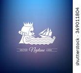 the head of the god neptune... | Shutterstock .eps vector #369011804