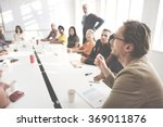 meeting discussion talking... | Shutterstock . vector #369011876