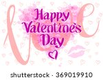 happy valentines day love heart ... | Shutterstock .eps vector #369019910