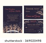winter wedding invitation set | Shutterstock .eps vector #369020498