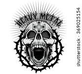 grunge skull coat of arms | Shutterstock .eps vector #369025154