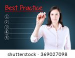 business woman writing blank... | Shutterstock . vector #369027098
